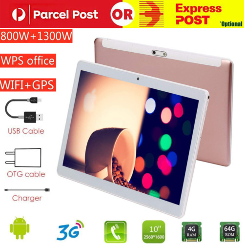 10.1inch Tablet PC HD Android 9.0 4+64GB 10-Core bluetooth WIFI Dual Camera GPS