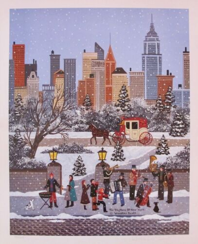"""Jane Wooster Scott """"RHYTHMS OF NEW YORK"""" Hand Signed Limited Edition Lithograph"""