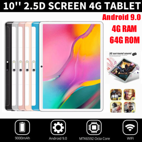 """10.1"""" Tablet PC 2.5D Android 9.0 Ten-Core 64GB Dual Camera WIFI Dual SIM Tablet"""