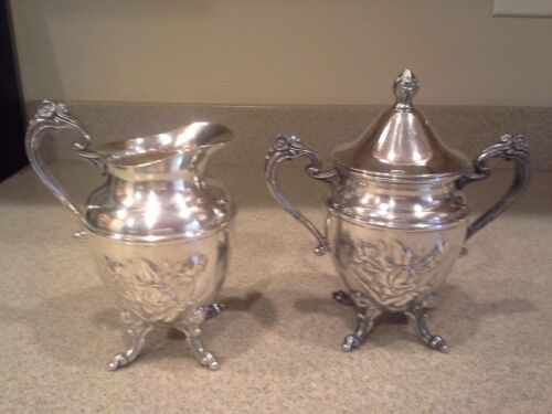 VICTORIAN  CHASED SHERATON SILVER  SYRUP/CREAMER SUGAR on copper
