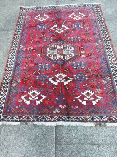 antico-swiss-2- >>>>>>>>  Beautiful Antique IndoGHASHGHAII rug  4`2 x 5`6 ft