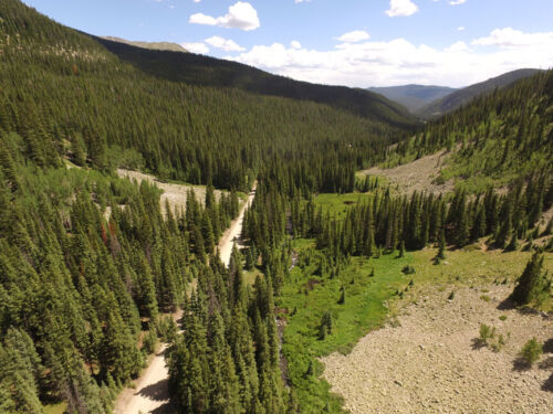 Colorado Placer Gold Mine N Fork Quartz Creek Mining Claim Creek Panning Sluice <br/> 744+ of creek to mine w/lodging nearby 8in - 4ft deep
