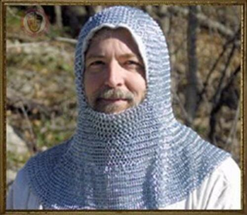 Chain mail coif re-enactment, armour, knight, crusader medieval historyOther Eras, Wars - 135