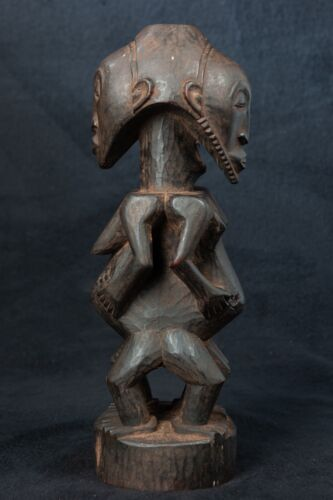 Bembe Janus Statue, D.R. Congo, Zambia, Central African Tribal Art