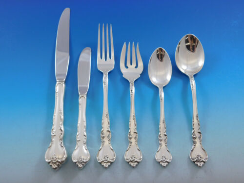 Savannah by Reed & Barton Sterling Silver Flatware Service For 12 Set 80 pieces