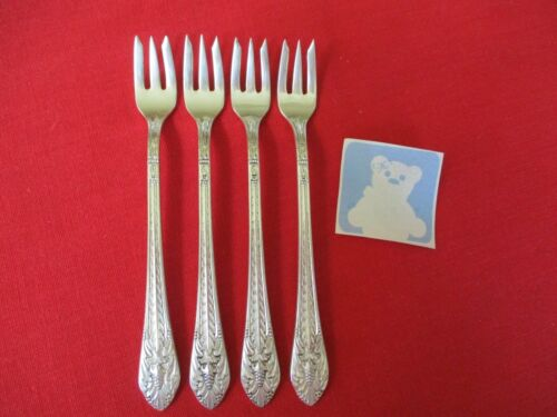 (4) 1847 Rogers Silverplate Seafood Forks, 1933 Marquise   Stk#H