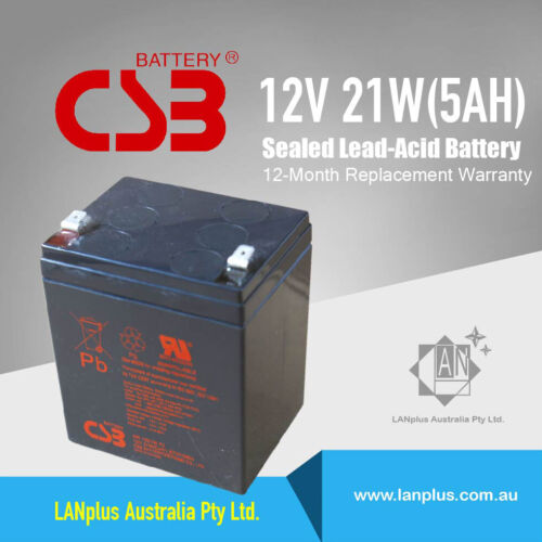 CSB HR1221W 12V 5Ah 21W High Rate UPS Rechargeable Battery For APC EATON