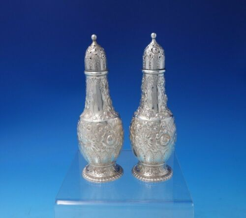 Repousse by Tiffany and Co Sterling Silver Salt Pepper Shaker Set 2pc (#5136)