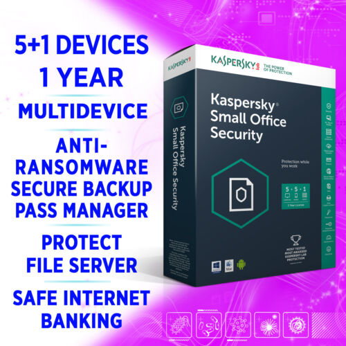 Kaspersky Small Office Security v8 5+5+1 devices 1 Year MULTIDEVICE full edition