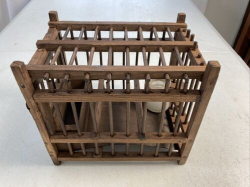 Antique PENNSYLVANIA COAL MINE SAFETY CANARY CAGE Made in Germany