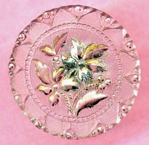 """Antique Glass Button…Naked Lacy….15/16"""""""