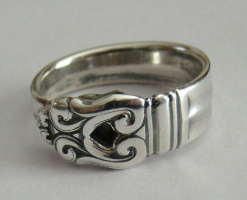 Sterling Silver Spoon Ring - International / Royal Danish - FREE 1 DAY SHIPPING
