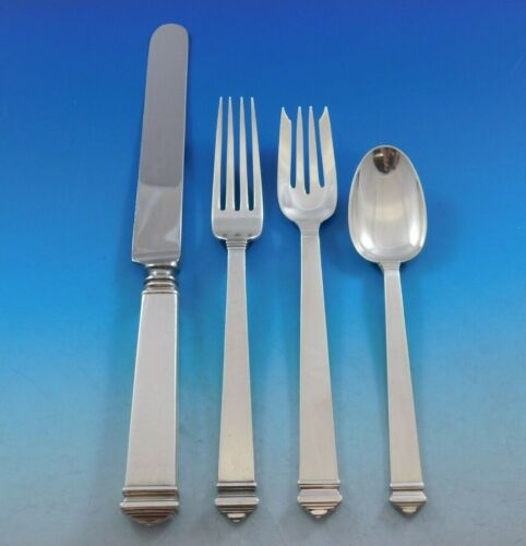 Hampton by Tiffany and Co Sterling Silver Flatware Set for 12 Service 51 pieces