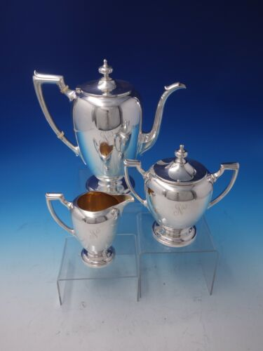 Pointed Antique by Reed Barton Dominick Haff Sterling Silver Coffee Set (#5061)