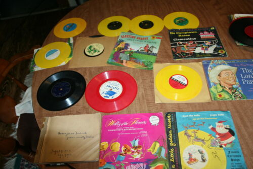 Lot Of Used Kids Records Disney Peter Pan Golden Some Red Some Yellow See Pix!!