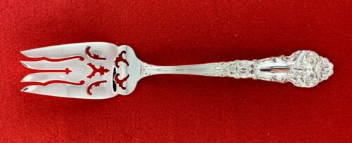 """R&B Sterling Silver French Renaissance 7-5/8"""" Cold Meat Fork 2.30 oz - 175353J"""