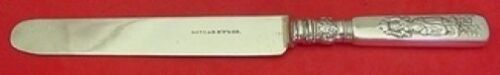 """Fontainebleau by Gorham Sterling Silver Dinner Knife w/Woman Plated Blunt 9 3/8"""""""