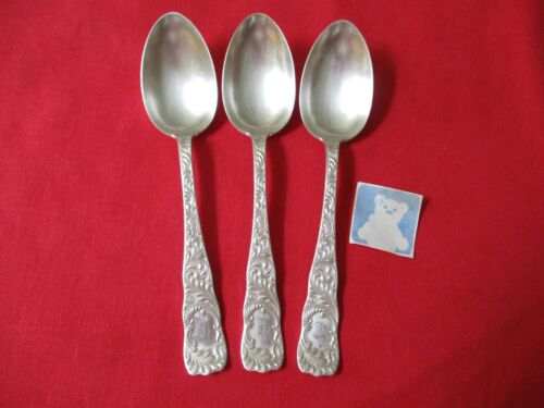 (3) Rogers & Hamilton Silverplate Serving Spoons, 1889 Monarch   #11