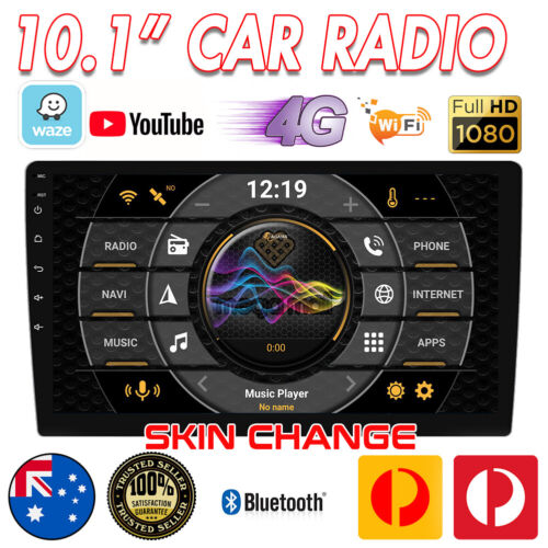 """Universal 10.1"""" Head Unit Android 10.0 GPS 1 DIN Car Radio Stereo AUX USB+AU MAP"""