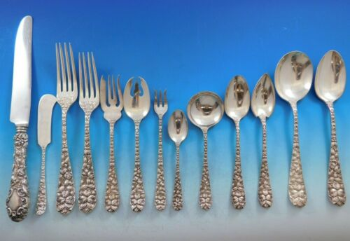 Baltimore Rose by Schofield Sterling Silver Flatware Set Service 189 pcs Dinner
