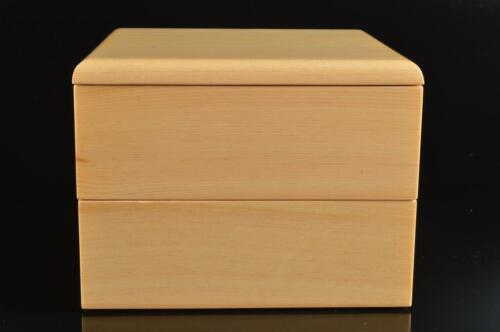 #5702: Japanese Wooden Lacquer ware FOOD BOXES Jubako Lunch Box