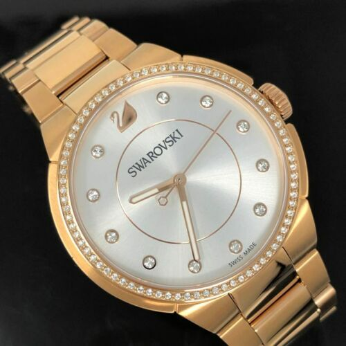 SWAROVSKI CRYSTAL AUTHENTIC ROSE GOLD WATCH BNIB GREAT MOTHERS DAY GIFT