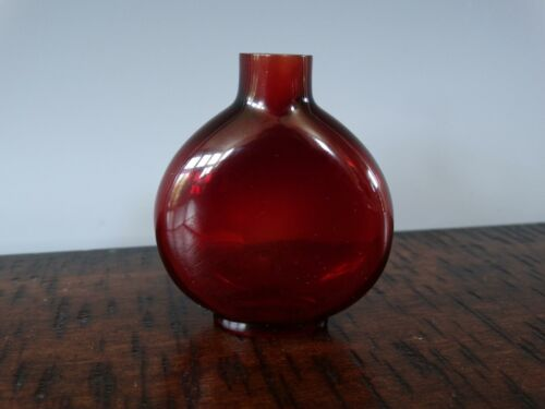 Antique Chinese Ruby Red Glass Snuff Bottle Very Fine Antique 18th Imperial
