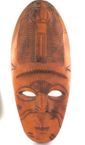 .VERY LARGE VINTAGE OCEANIA / FIJIAN ? CARVED WOODEN MASK. PRICED to SELL !!!