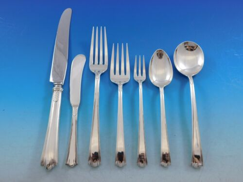 American Directoire by Lunt Sterling Silver Flatware Set 12 Service 94 pcs Deco