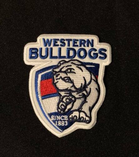 Footscray ( Western Bulldogs  ) FC Embroidered Patch Badge 95 x 80mm Iron / Sew