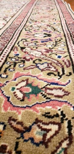 Beautiful Cr1930-1939s Antique Wool  Muted Colors Floral Hereke Rug 5x7ft