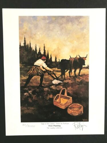 RODRIGUE SAGA OF THE CAJUNS - FIRST PLANTING - HAND SIGNED 8 X 10 W/CERT LTD.EDT