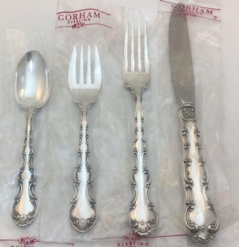 Gorham sterling STRASBOURG 4-PIECE PLACE SETTING PLACE SIZE NEAR-NEW