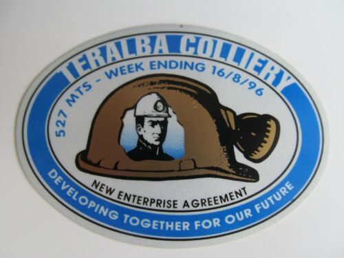 Coal Mining Stickers, Teralba Colliery