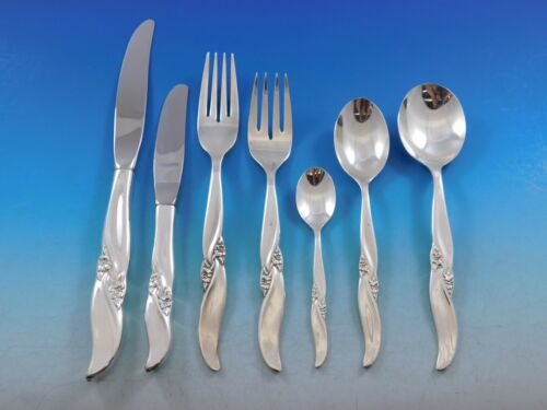Lake Louise by Northumbria Canada Sterling Silver Flatware Set Service 48 pieces