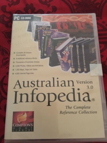AUSTRALIAN INFOPEDIA VERSION 3.0 THE COMPLETE REFERENCE COLLECTION PC CD-ROM