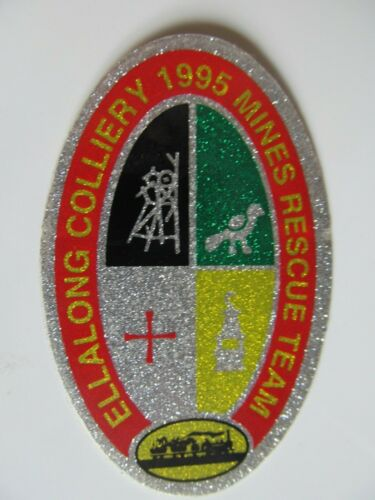 Coal Mining Stickers, Ellalong Colliery, Mines Rescue Team