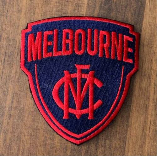 Melbourne ( Demons )  FC Embroidered Patch Badge 90 x 82 mm Iron on Sew