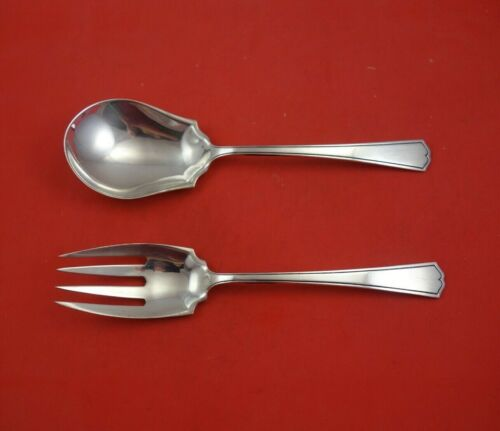 """Chippendale New by Alvin Sterling Silver Salad Serving Set 2pc Original 9"""""""