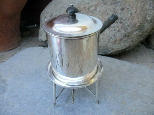 Antique English Silverplate 4 Egg Coddler Boiler Mappin & Webb's Prince's Plate