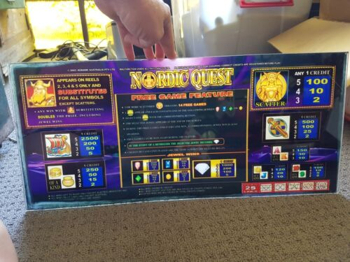 Nordic Quest Perspex Poker Machine Instructions Sign Pokie