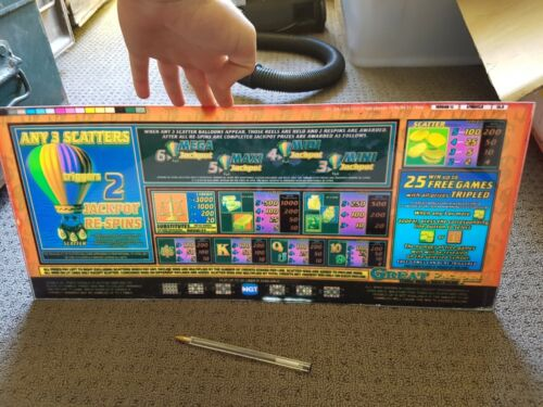 Perspex Great Escapes Double Bucks Deluxe Poker Machine Instructions pokie sign