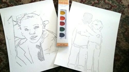 8.5 x 11 Watercolor painting set