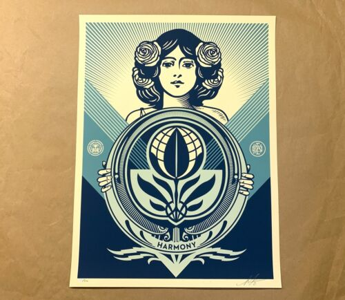Shepard Fairey OBEY Protect Biodiversity Cultivate Harmony Signed Print Giant