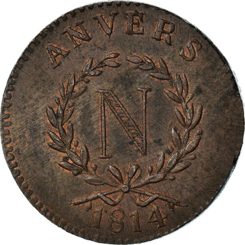[#970832] Monnaie, FRENCH STATES, ANTWERP, 5 Centimes, 1814, Anvers, Grand Modul