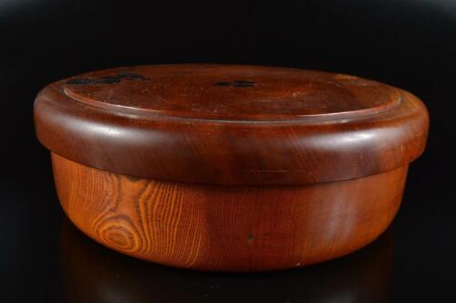 L1281: Japanese Wooden Lacquer ware Flower pattern WOODEN TRAY  SERVING BOWL Box