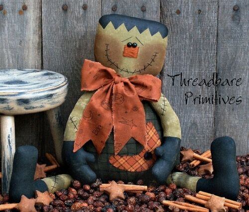 PATTERN Primitive Halloween Frankenstein Doll Monster Doll FREE SHIPPING