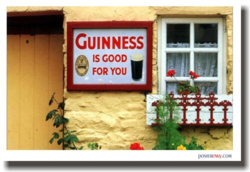 Guiness is Good for You - Irish Pub Beer Travel POSTER