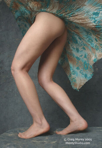 Zille C009 Fine Art Nude Model Legs, signed photo by Craig Morey