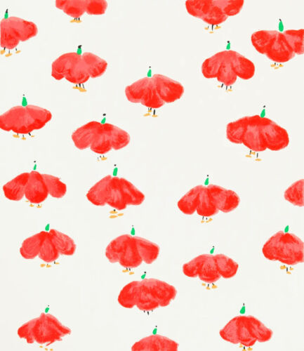 DONALD SULTAN 'Red Wall Flowers', 2008 SIGNED Silkscreen Limited Edition Print